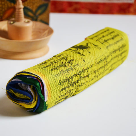 Small Tibetan Buddhist Prayer Flags Roll - ThirdWorldTrAid