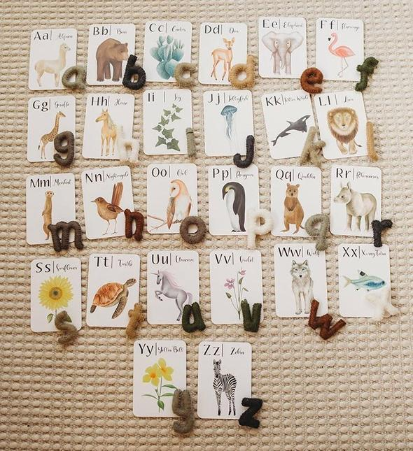 'ABC' Nature Flash Cards