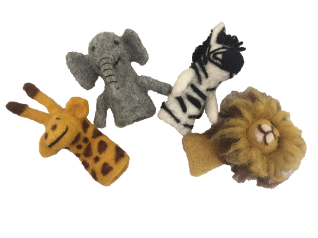 African Animals Finger Puppets