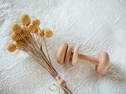 Wooden Keepsake Baby Rattle