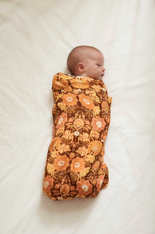 Arabella Paisley Bamboo and Organic Cotton Swaddle *PREORDER