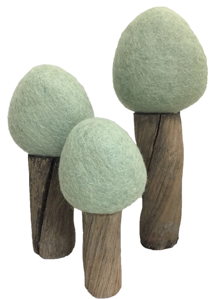 Earth Summer Trees (set of 3)