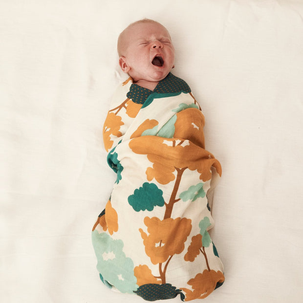 Gum Trees Bamboo and Organic Cotton Swaddle