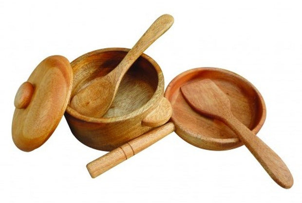 Wooden Pot and Pan Set