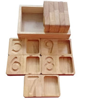 Wooden Number Writing and Counting Trays