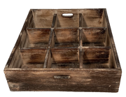 Wooden Sorting Tray - 9 divisions