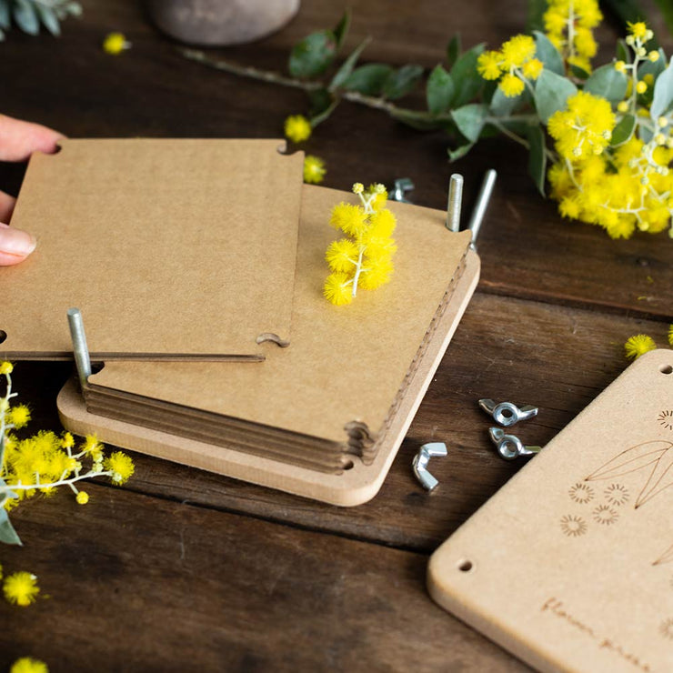 "Wooden Flower Press ""Wattle"" Mini"