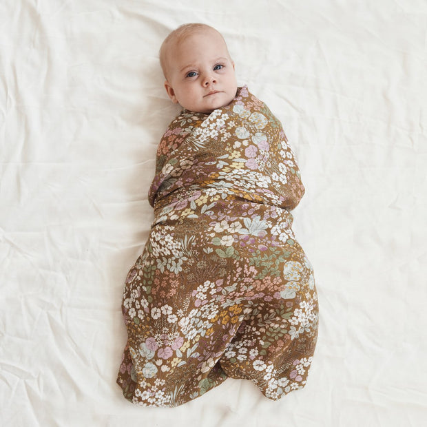 Wild Meadow Bamboo and Organic Cotton Swaddle
