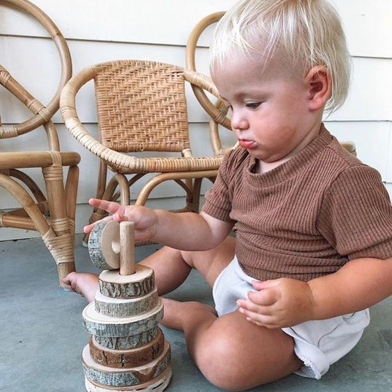 Natural Wooden Stacker