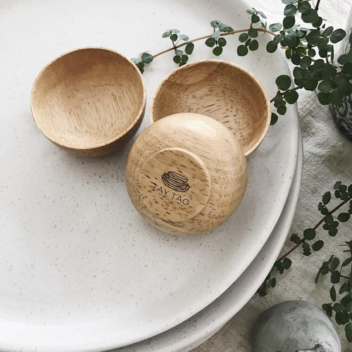 Wooden Garnish Bowls (Set of 3)