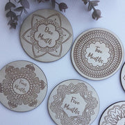 Wooden Mandala Milestone Cards *LARGE*