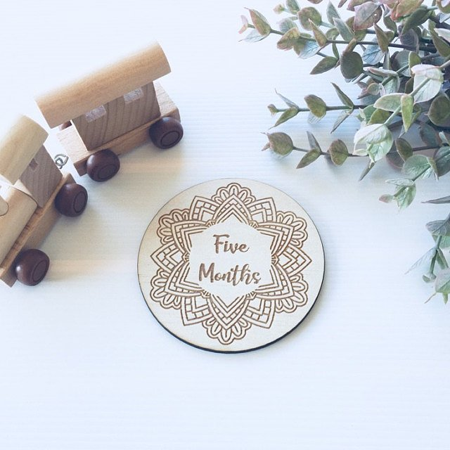 Wooden Mandala Milestone Cards *SMALL*