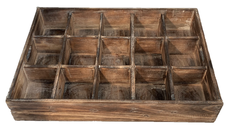 Wooden Sorting Tray - 15 divisions