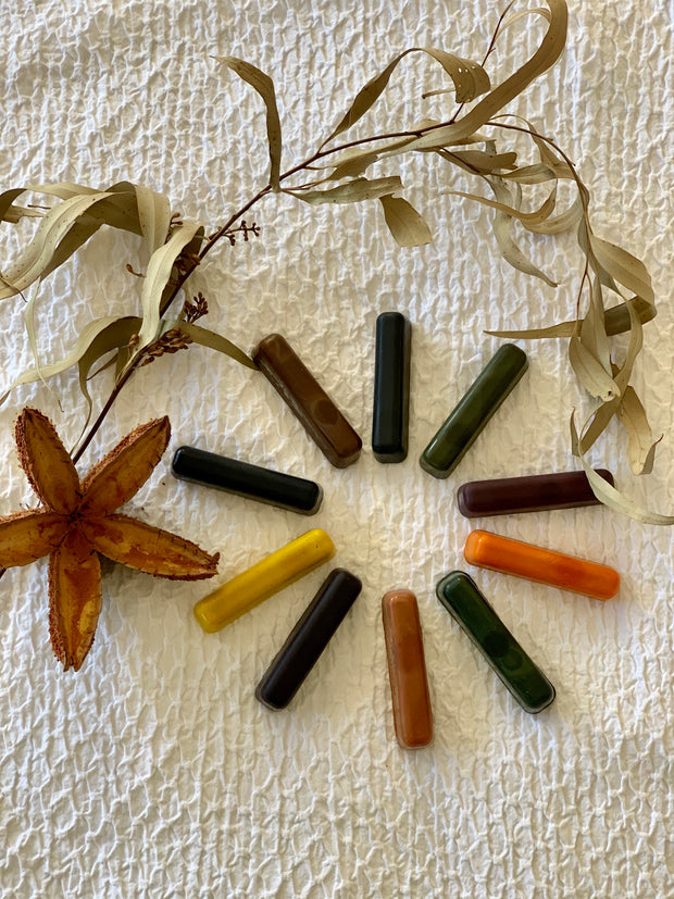 Eco Crayon Sticks - 10 Colour Box: 100% natural plant based crayons