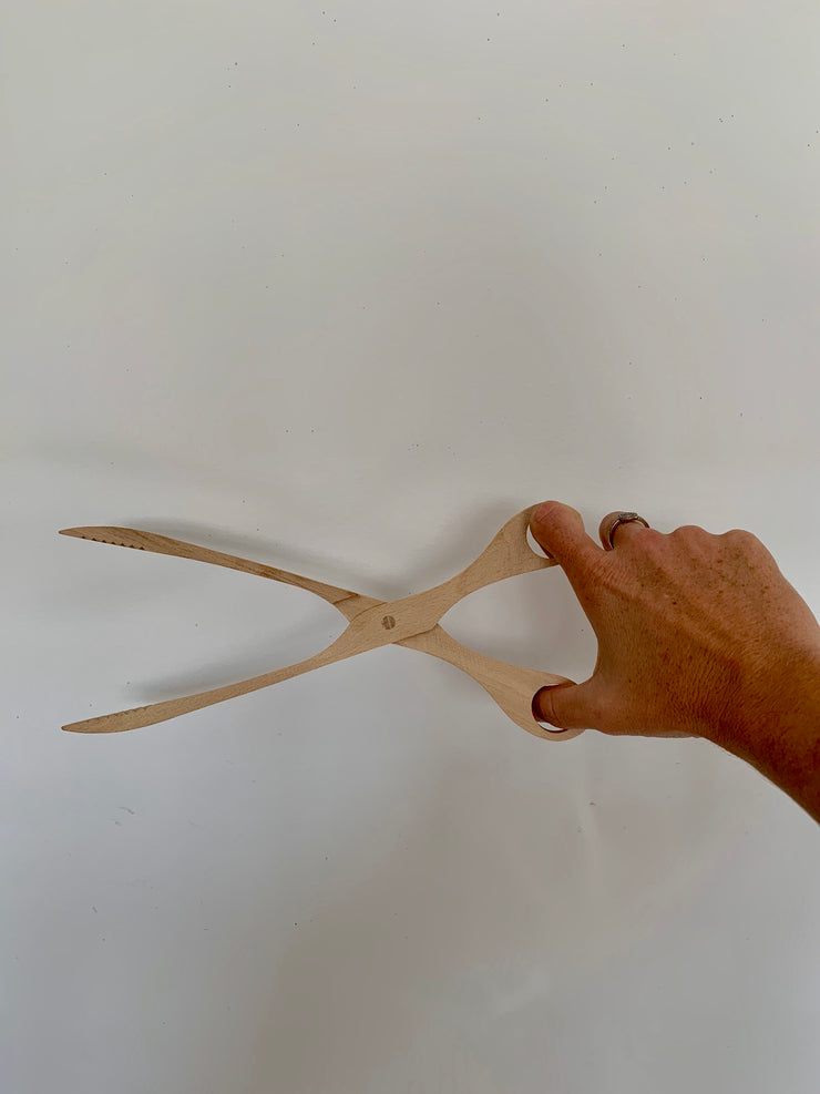 Wooden Scissor Tongs