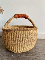 Earth Mini Basket (tan handle)