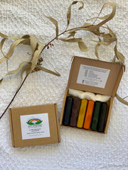 Eco Crayon Sticks - 6 Colour Box: 100% natural plant based crayons