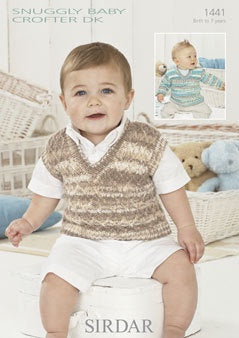 1441 - Snuggly Baby Crofter DK - Sweater & Tank Top