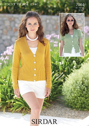 7084 Cotton DK - Womans Cardigan