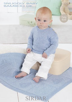1326 Snuggly Baby Bamboo DK - Sweater and Blanket
