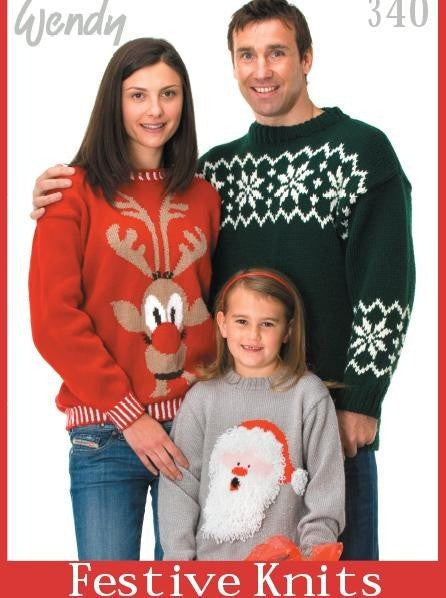 340 Festive Knits : 17 designs for all the family