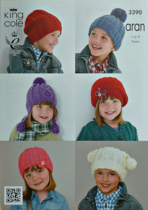 3390 Aran - Childrens Hats