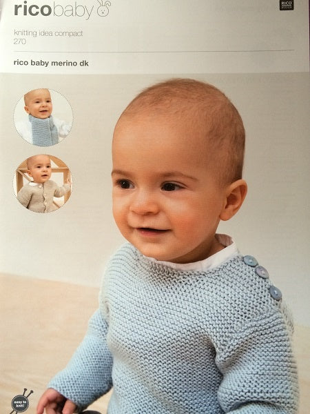 270 Ricobaby DK - Jacket, Sweater And Scarf