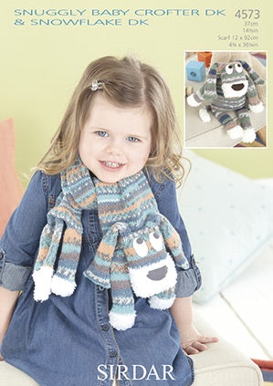 4573 Baby Crofter DK - Toy & Scarf