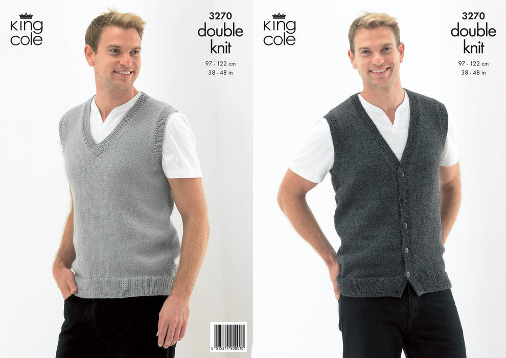 3270 King Cole DK - Slipover and Waistcoat