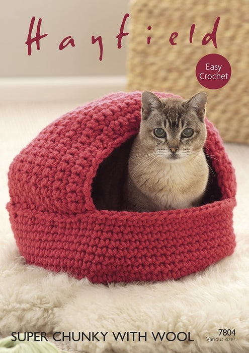 7804 Crochet Cat Nest and Storage Baskets