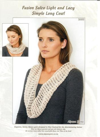 2400 Light and Lacy Simple long Cowl.