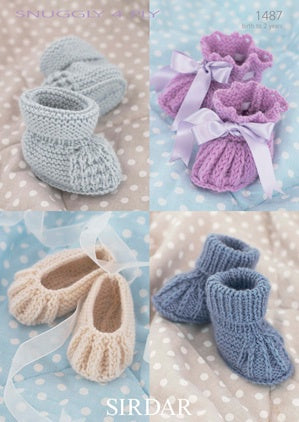 1487 Snuggly 4 Ply - Shoes and Booties