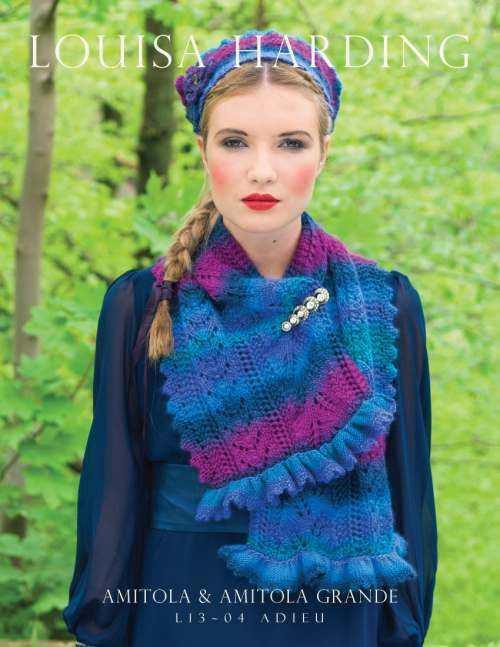L13-04 'Adieu' Beret & Shawl with Frill
