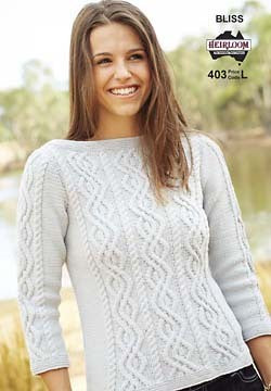 403 Bliss 8 Ply - Boat Neck Jumper