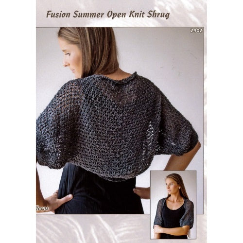 2402 Fusion Summer Open Knit Shrug