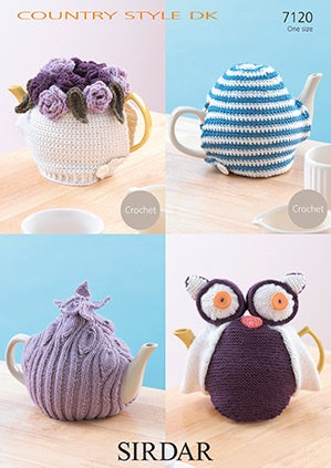 7120 Crochet/Knitted Tea Cosies in 8 Ply.