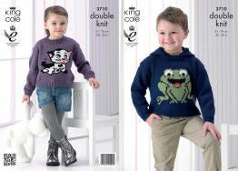 3710 Double Knitting - Frog and Cat Sweaters