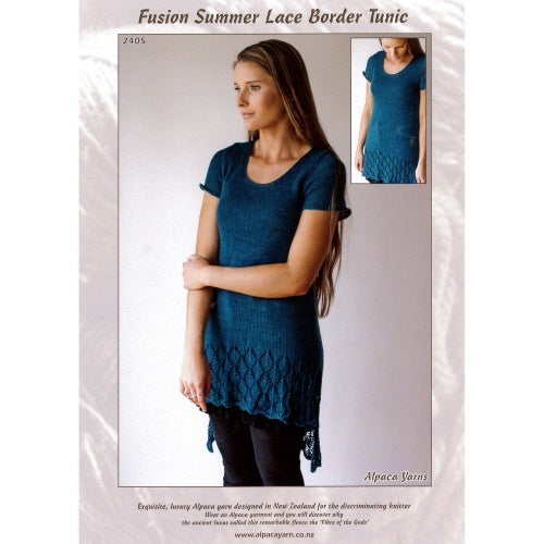 2405 Fusion Summer Lace Border Tunic