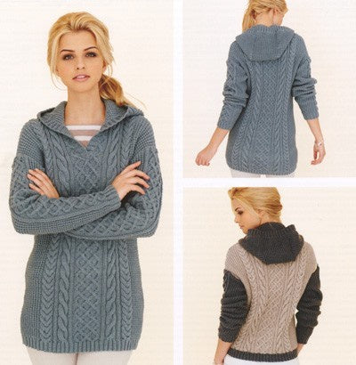 252 Rico DK - Cabled Tunic and Sweater