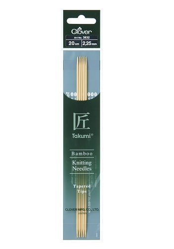 Bamboo Takumi Double Pointed Needles - 20cm