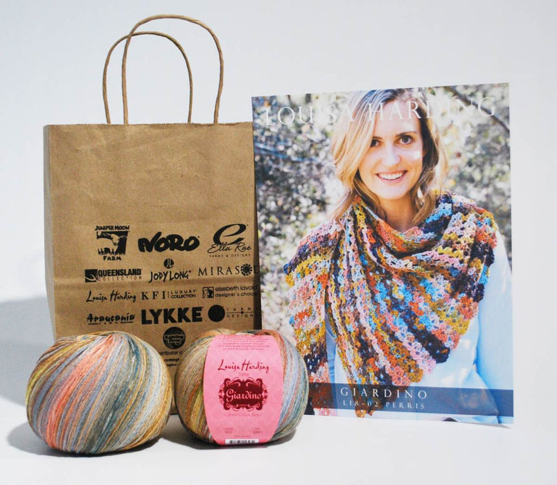 Perris Crochet Shawl Kit using Giardino yarn by Lousia Harding