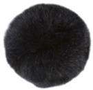 Fur Pom Poms with Loop 7cm