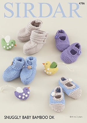 4786 Baby Bootees & Shoes