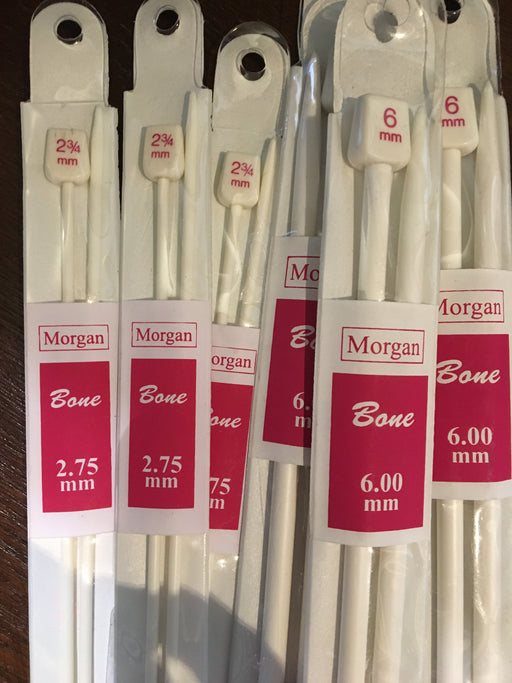 Bone Straight Needles - 30cm