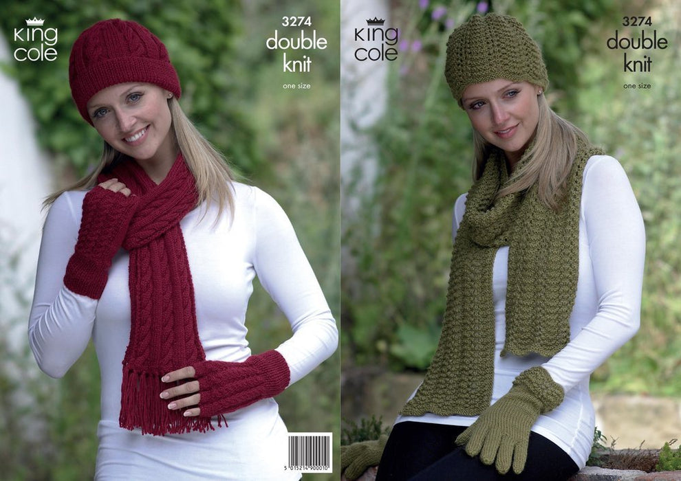 3274 Double Knit - Hats, Scarves and Gloves