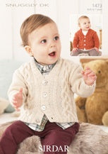 1473 Snuggly DK - Boys V Neck and Shawl Collar Cardigans