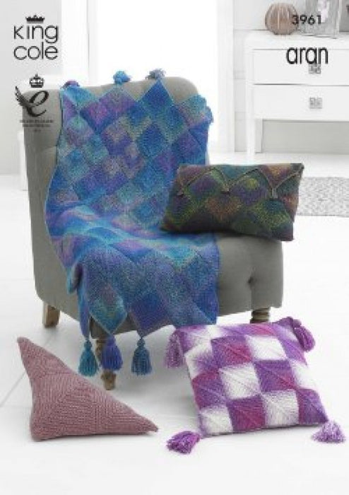 3961 Throws & Cushions in Aran