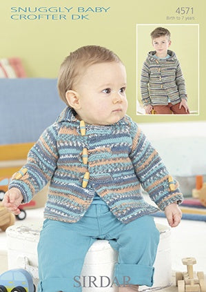 4571 Snuggly Baby Crofter DK - Collared and Hooded Jackets