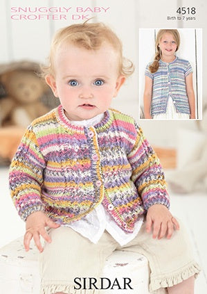 4518 Snuggly Baby Crofter DK - Baby and Girl's Cardigans