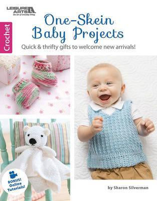 One Skein Baby Projects : Quick & Thrifty Gifts to Welcome New Arrivals! by Sharon Silverman